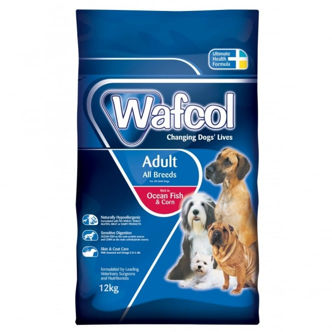 WAFCOL Adult Dog Food with Ocean Fish and Corn 12kg
