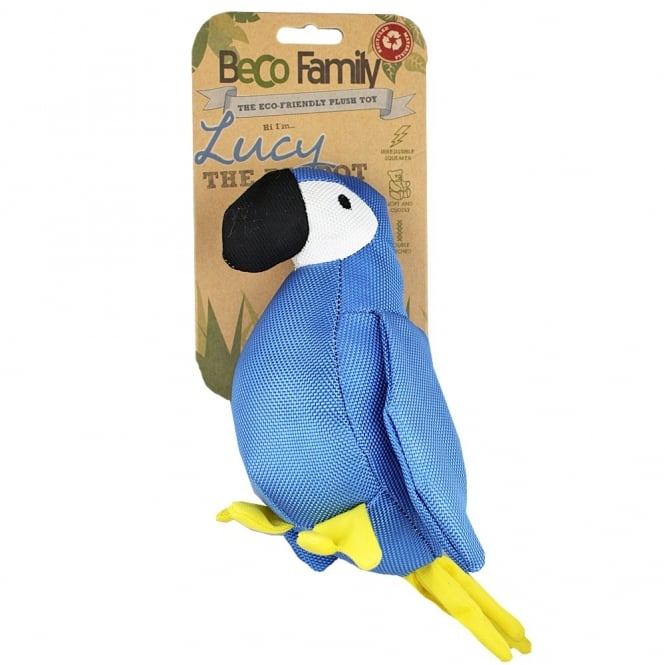 Beco Family Lucy The Parrot Plush Dog Toy