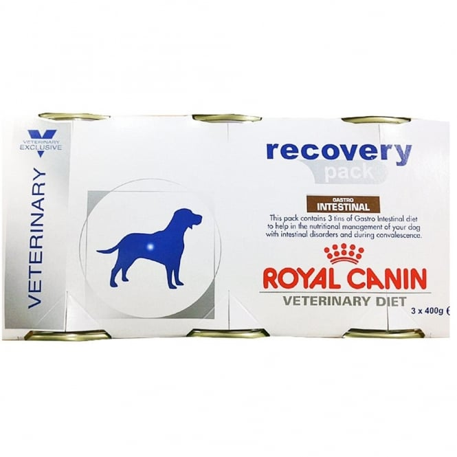 Royal Canin Veterinary Diet Canine Gastrointestinal Recovery Pack Packs of 3 x 400g