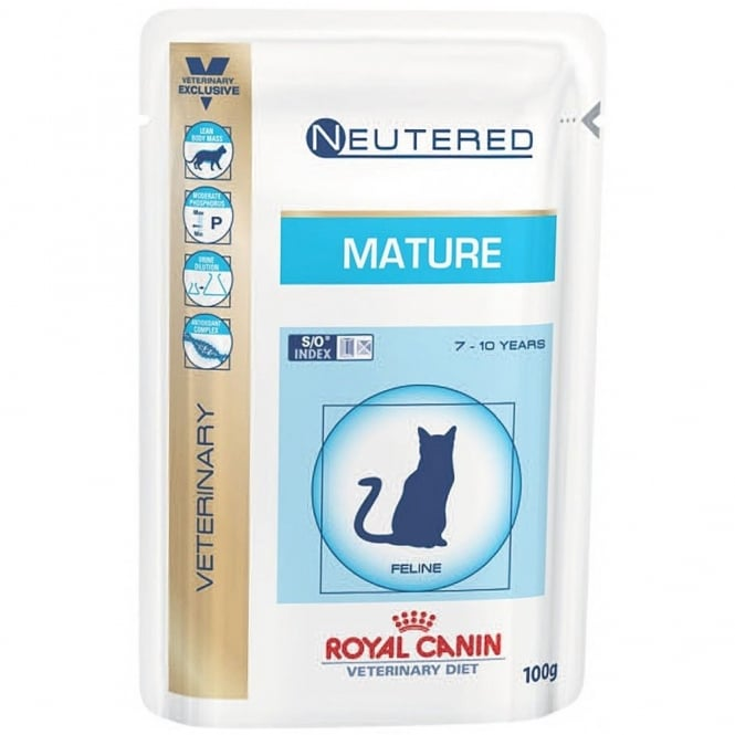 Royal Canin Vet Care Feline Senior Consult Stage 1 Cat Food 48 x 100g