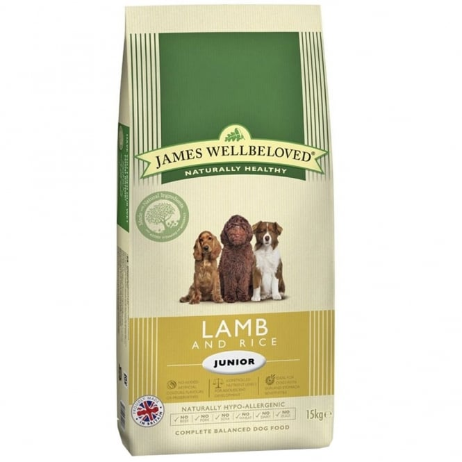 James Wellbeloved Junior Performance Dog Food with Lamb and Rice