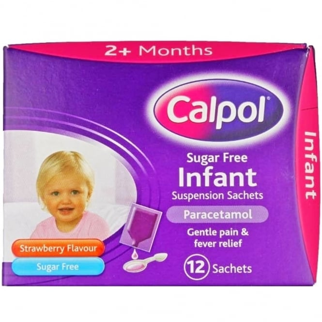 Calpol Sugar Free Infant Suspension Sachets x 12