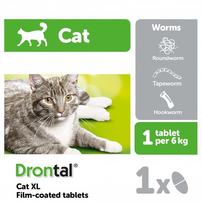 Drontal Cat XL Wormer (Single Tablets)
