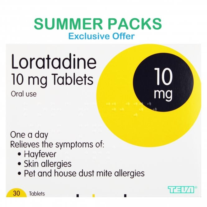 Loratadine Allergy & Hayfever Relief 10mg Tablets (Summer Packs)