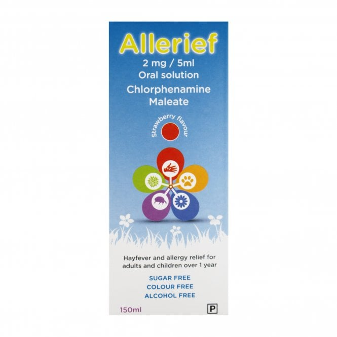 Hayfever & Allergy Relief Chlorphenamine Solution 2mg/5ml 150ml