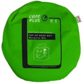 Care Plus Single Green Mosquito Pop-Up Head Net Hat (33696)