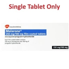 Malarone Tablets 250/100mg Anti Malaria - Single Tablet