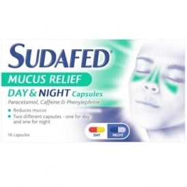 Sudafed Mucus Relief Day & Night Capsules x 16
