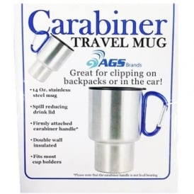 Carabiner Travel Mug Blue