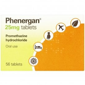 Phenergan 25mg Tablets X 56