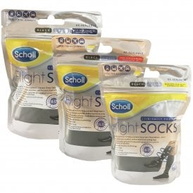 Scholl Flight Socks Cotton Feel Black