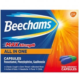 Beechams Max Strength All In One Capsules x 16
