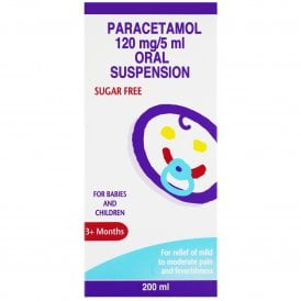Paracetamol 120mg/5ml Suspension Cherry Flavour 200ml