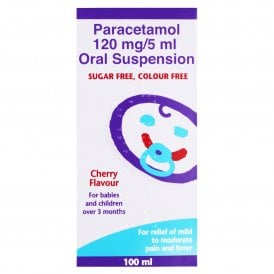 Paracetamol 120mg/5ml Suspension Cherry Flavour 100ml