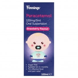 Paracetamol 120mg/5ml Oral Suspension Strawberry Flavour 100ml