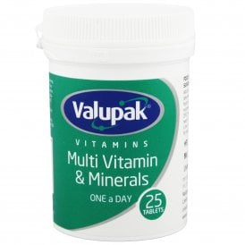Valupak Multi Vitamin & Minerals One A Day Tablets x 25