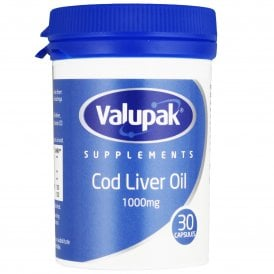 Valupak Cod Liver Oil 1000mg Capsules x 30
