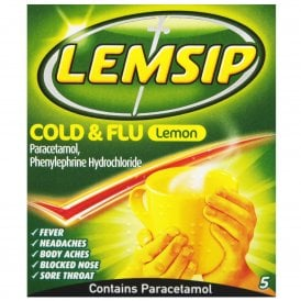 Lemsip Cold & Flu Sachets Lemon x 5