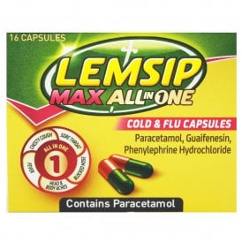 Lemsip Max All In One Cold & Flu Capsules x 16