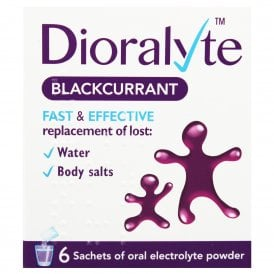 Dioralyte Electrolyte Blackcurrant Sachets x 6
