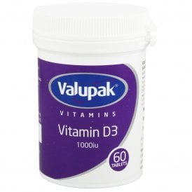 Valupak Vitamin D3 1000iu Tablets x 60