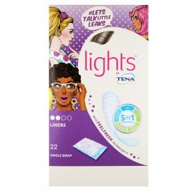 Lights by TENA Single Wrap Liners x 22