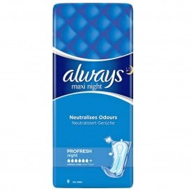 ALWAYS Maxi Night (Size 3) 9 Pads