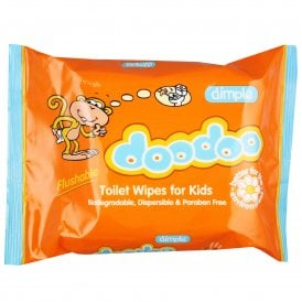 DooDoo Toilet Wipes For Kids (60 Pack)