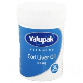 Valupak Cod Liver Oil 400mg x 30