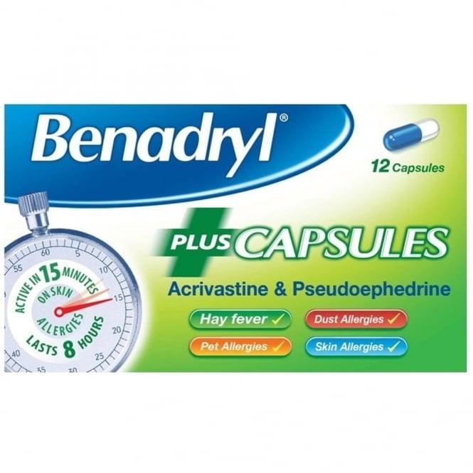 Benadryl Plus Capsules x 12