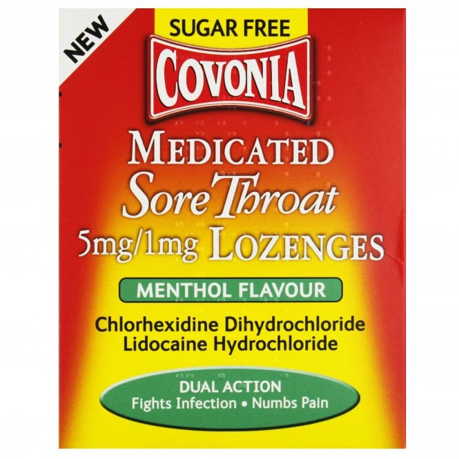 Covonia Medicated Sore Throat Sugar Free Menthol Flavour Lozenges