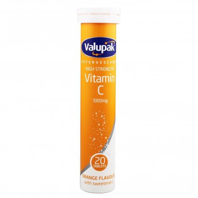 Valupak High Strength Effervescent Vitamin C 1000mg Tablets