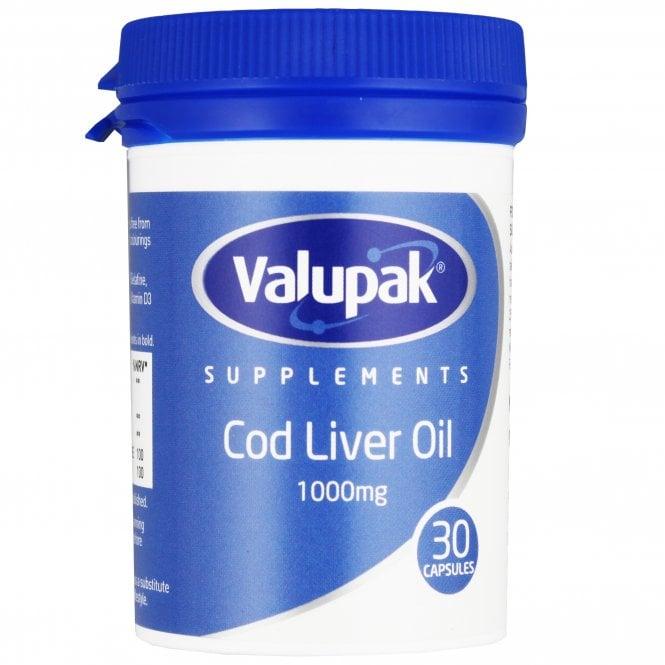 Valupak Cod Liver Oil 1000mg Capsules x 30