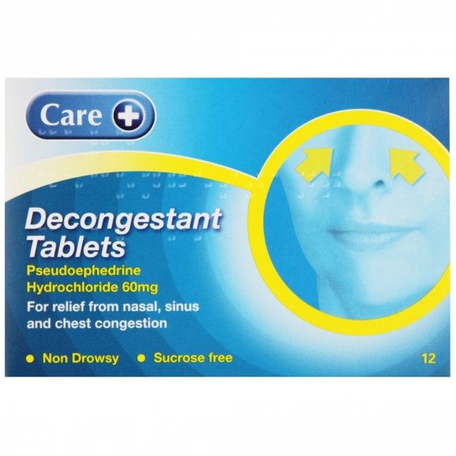 Care+ Care Decongestant Tablets x 12