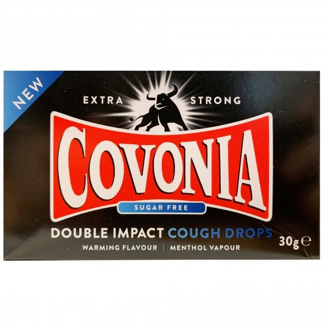 Covonia Double Impact Sugar Free Strong Original Cough Lozenges