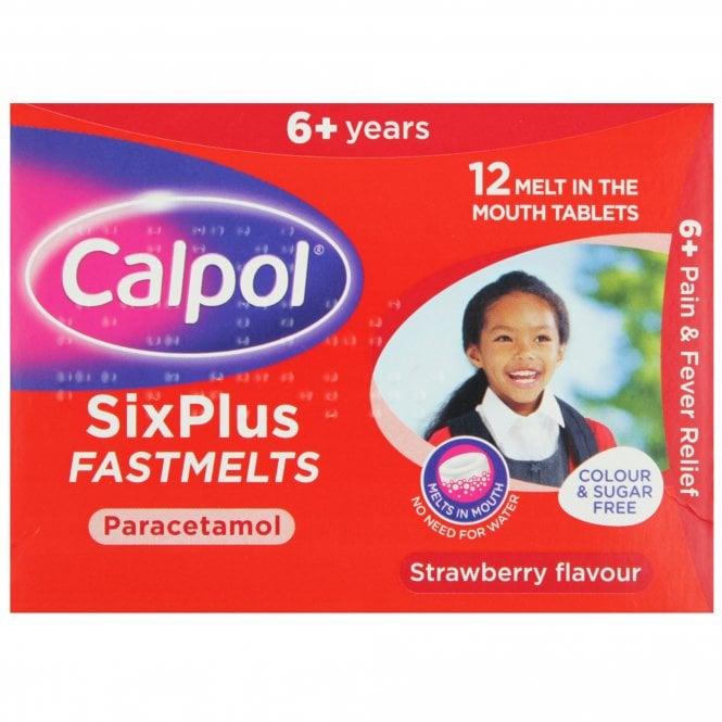 Calpol SixPlus Fastmelts x 12