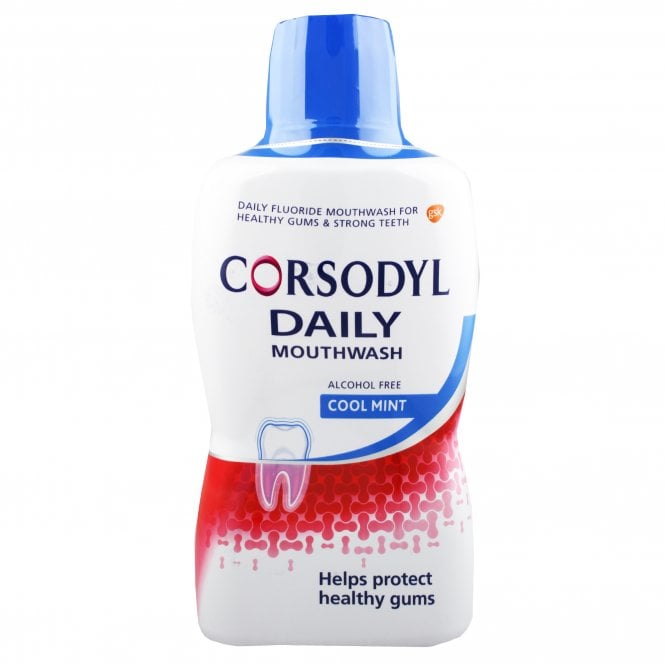 Corsodyl Daily Mouthwash Cool Mint 500ml