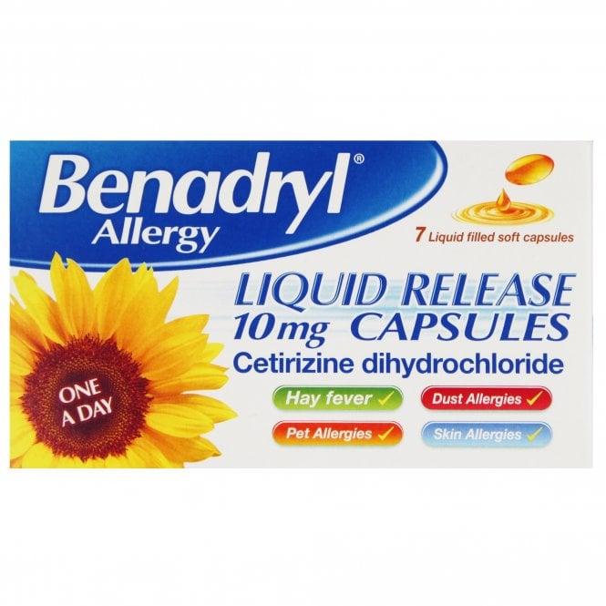 Benadryl Allergy Liquid Release Capsules x 7