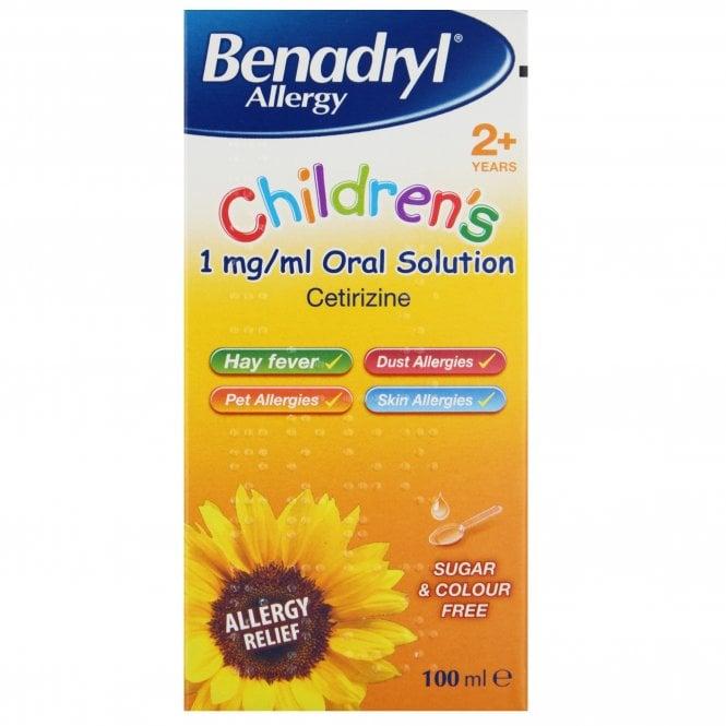 Benadryl Allergy Children's Solution 100ml