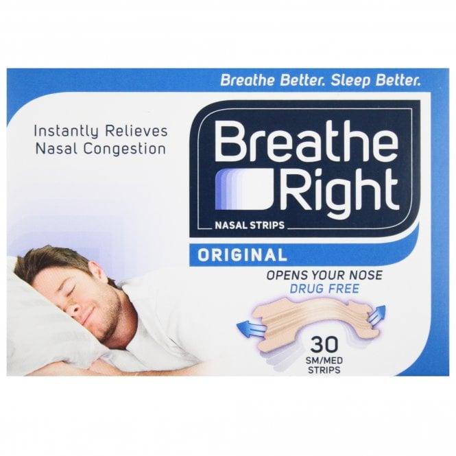 Breathe Right Original Small-Medium Nasal Strips x 30