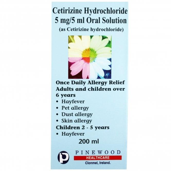 Cetirizine 5mg/5ml Oral Solution 200ml