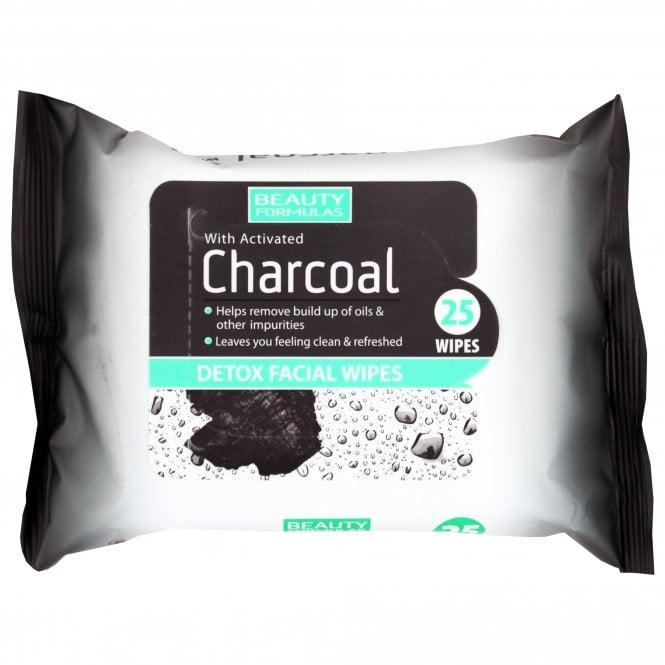 Beauty Formulas Charcoal Detox Facial Wipes x 25