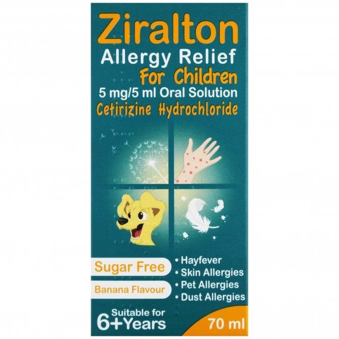 Cetirizine Allergy Relief Liquid For Adults & Children 70ml