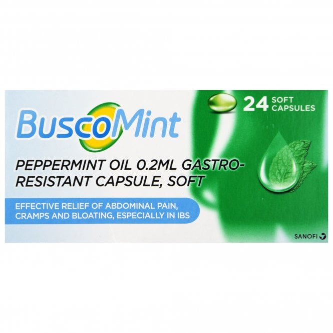 BuscoMint Peppermint Oil 0.2ml Gastro-Resistant Capsule x 24