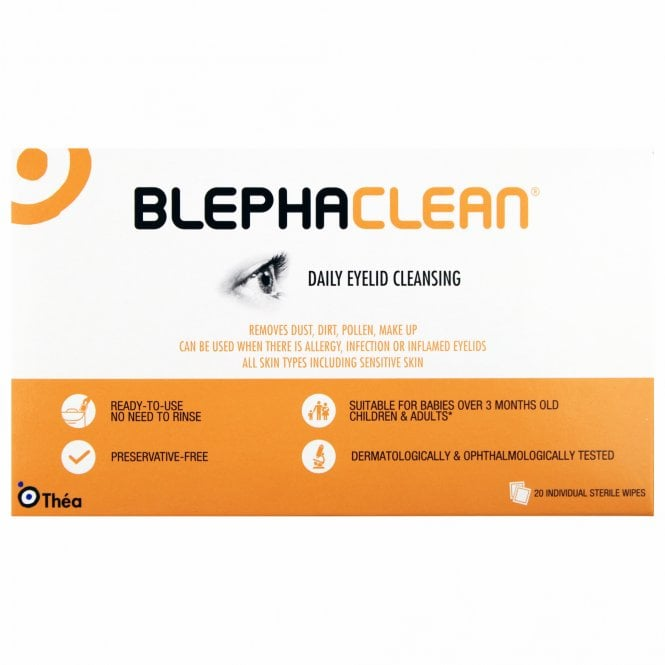 BlephaClean Daily Eyelid Cleansing Wipes x 20