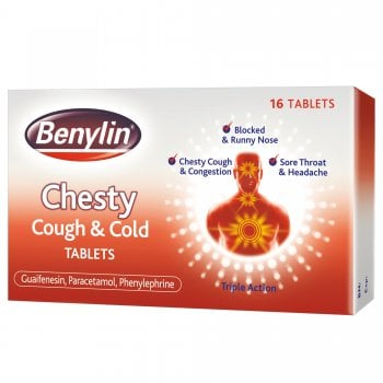 Benylin Chesty Cough & Cold Tablets x 16