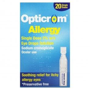 Opticrom Allergy Single Dose Eye Drop Solution x 20