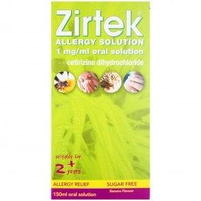 Zirtek Allergy Solution Sugar Free 150ml