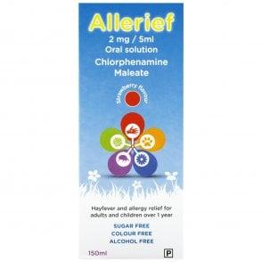 Hayfever & Allergy Relief Chlorphenamine Solution 2mg/5ml 150ml