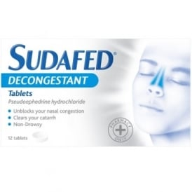 Sudafed Decongestant Tablets x 12